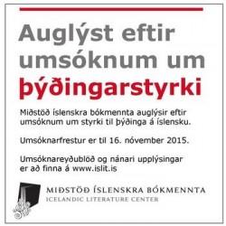 Auglýst eftir umsóknum um þýðingastyrki
